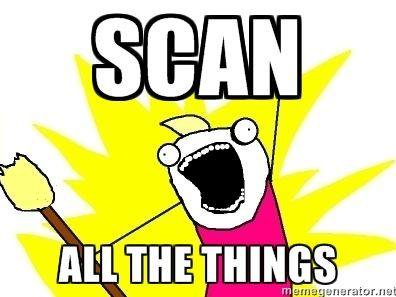 Scan all the things meme