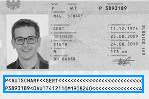 Scan passport