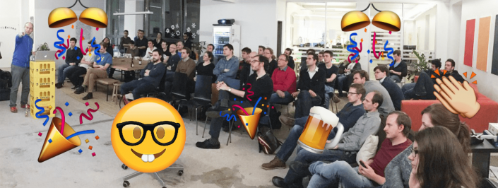 computer vision vienna meetup crowd with emojis overlayed
