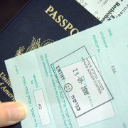 picture of a passport and visa