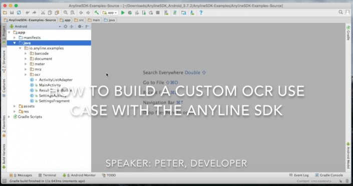 Screenshot of the youtube video How to build a custom use case with the Anyline OCR SDK
