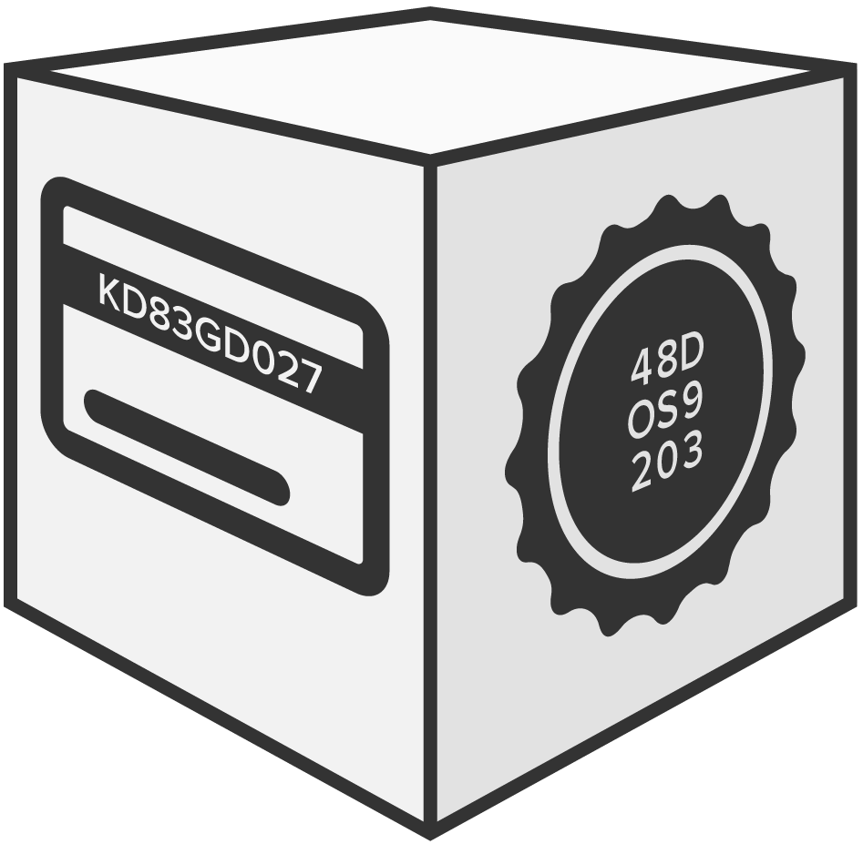 graphic of cube with a voucher code and bottle cap on it